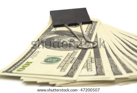 pack dollars isolated on white background
