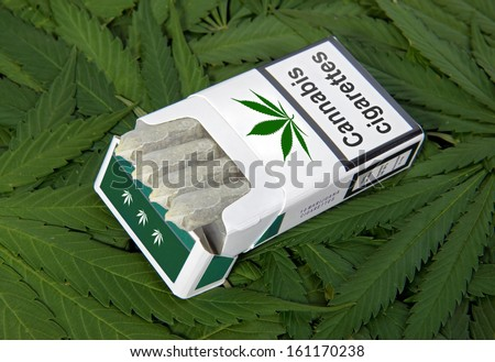 pack of cigarettes - stock photo