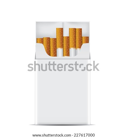 Pack of cigarettes. - stock photo