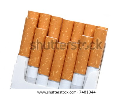 Pack of cigarettes, unhealthy life style concept