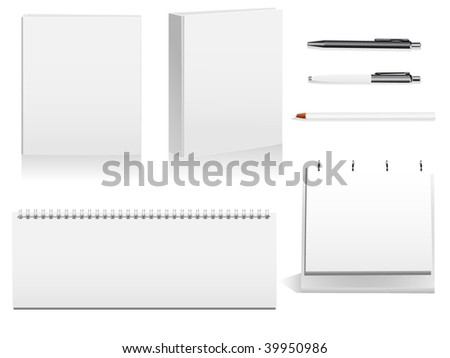 Pack of detailed objects used in the industry and in offices. - stock photo