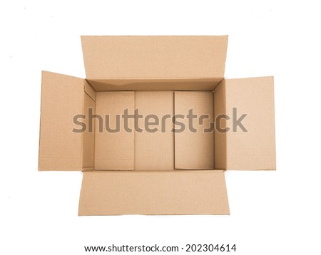 Package Box on white background