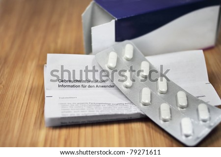 package insert - stock photo