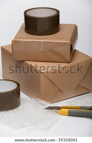 Package made by paper for shipment or gift