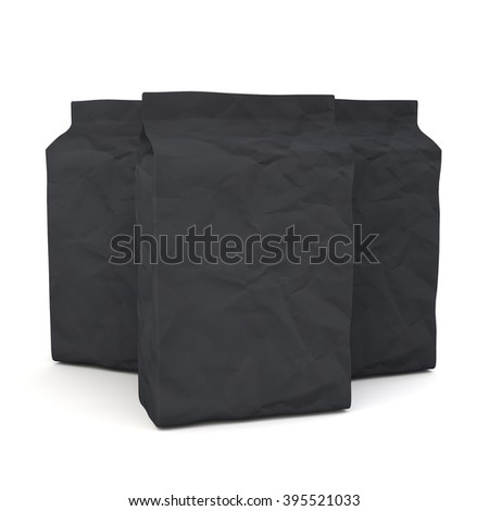 Package mock up on white background