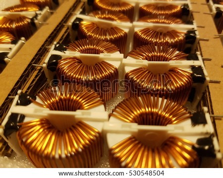 Package of copper coils