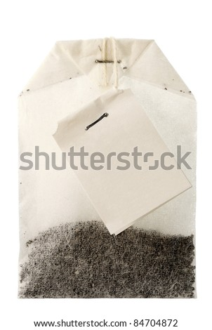 Package of Tea. Isolated. White background. Without shade. - stock photo