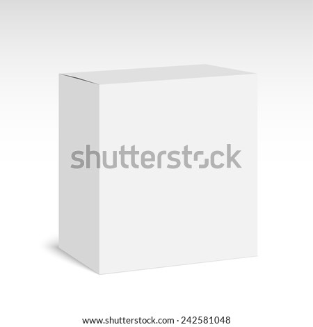 Package white box on a white background. - stock photo