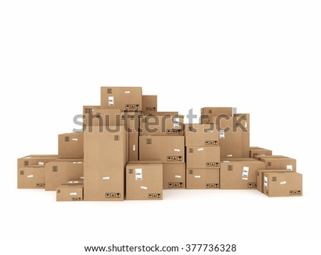Packaged to be shipped - stock photo