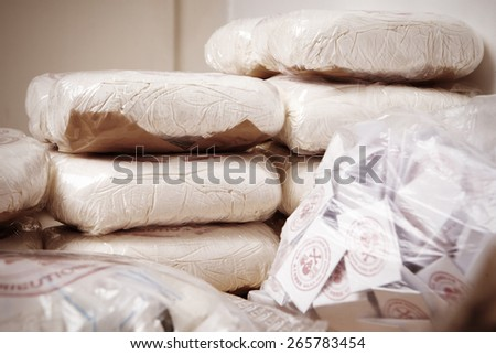 Packages of death - stock photo