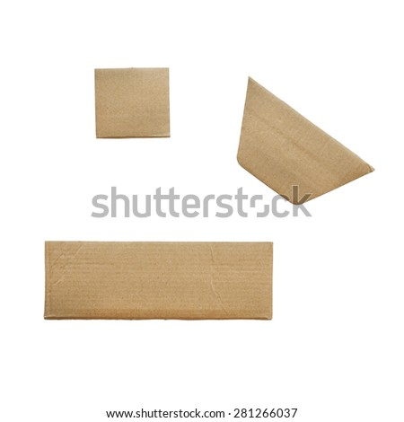 Packaging board isolated on white background