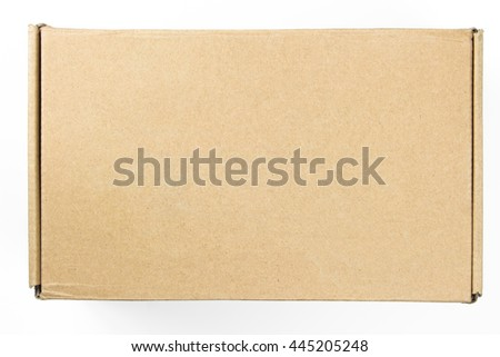 Packaging Box On White Background. Cardboard box on white background. - stock photo