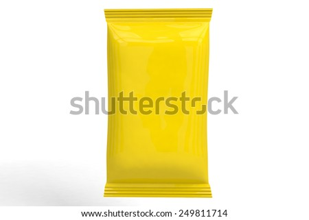 Packaging 3D yellow - stock photo