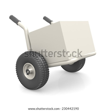 Packaging on dolly - stock photo