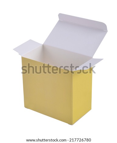 Packaging paper box isolated