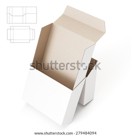 Packaging with Sleeve and Jacket and Die Cut Template