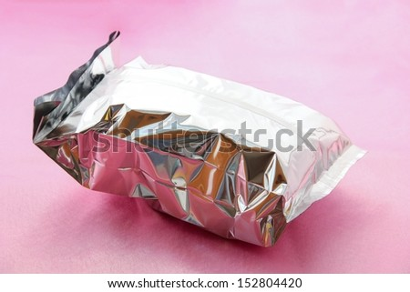 Packed food bag background. - stock photo