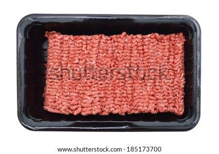 Packed minced meat  - stock photo