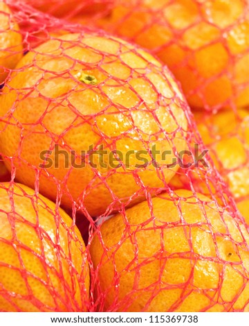 packed tangerines - stock photo