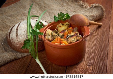 Packer Country  chicken stew - American traditional food.farmhouse kitchen