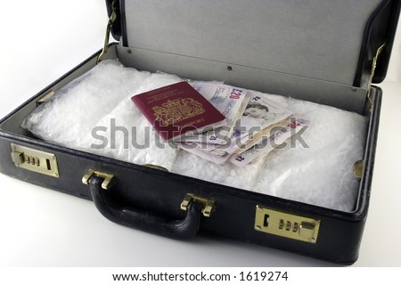 packets of crack cocaine along with money and passport in briefcase