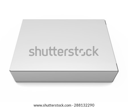 Packing boxes isolate on white background. 3d illustration. - stock photo
