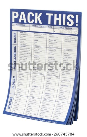 Packing List Pad - stock photo