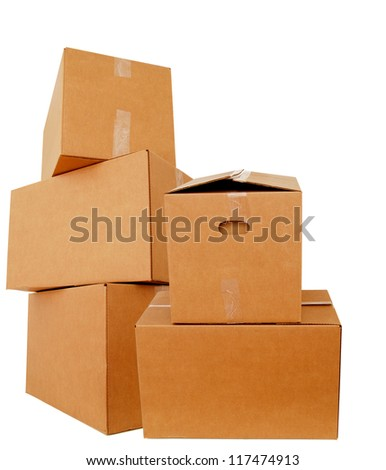 Packing of cardboard boxes