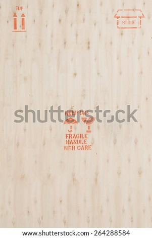 Packing sign on wood background. - stock photo