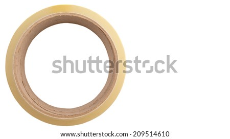 Packing tapes on white background