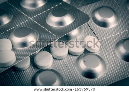 Packs Of Pills Background