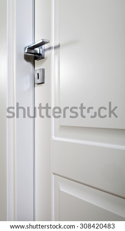 pad-printed white door closed, with handle