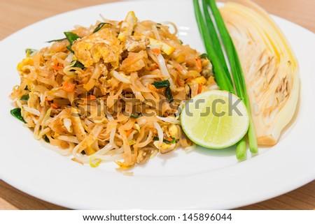 Pad Thai ( Fried Rice Sticks ) - stock photo