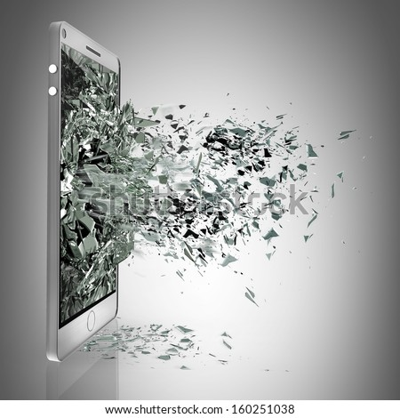 PAD with broken Touchscreen High resolution  - stock photo