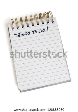 """Pad with """"Things To Do"""" at the top - stock photo"""