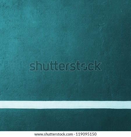 Paddle blue badminton court texture with white line can used as soccer background - stock photo