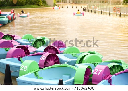 Paddle Boats For Kids In Big Lake Fun Park