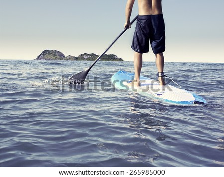 paddle stand up - stock photo