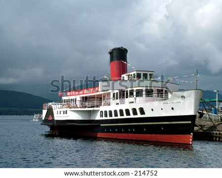 paddle steamer - stock photo