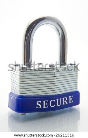 padlock closeup - stock photo