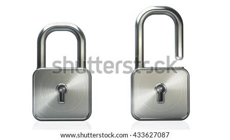 Padlock isolated on a white background. High resolution 3d