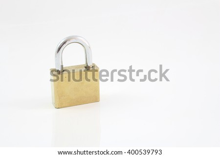 Padlock isolated on white background, clipping path included.