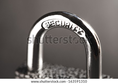 Padlock. Security concept. - stock photo