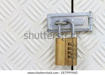 Padlock with combination code - stock photo