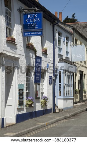 PADSTOW CORNWALL ENGLAND UK - CIRCA 2014 - Rick Stein's cafe and shop in Padstow Cornwall UK