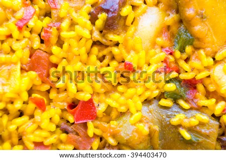 paella, typical spanish food - stock photo