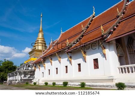 Pagada in Wat chang khum at Nan, Thailand - stock photo