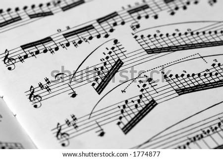 Paganini music score - stock photo