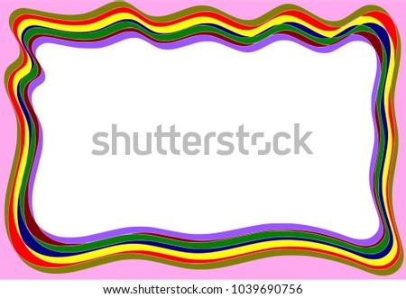 Page Border Colorful Multicolored Stock Illustration 1039690756 ...