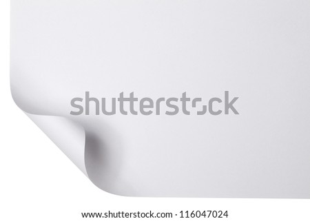 Page Curl - stock photo
